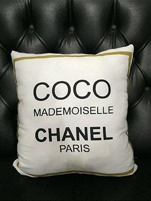Almofada Coco Chanel Branca