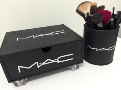 Mini Gaveta MAC em MDF na cor Preto Fosco