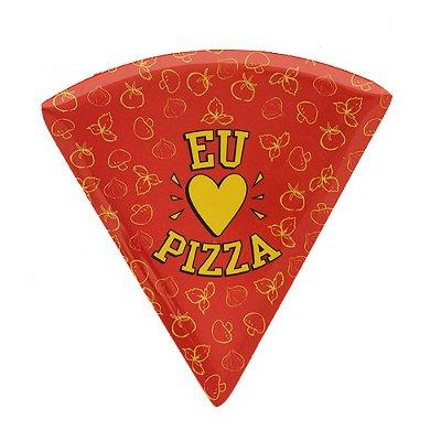 Prato de Pizza Vermelho