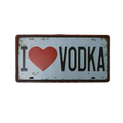 Placa Decorativa Vodka