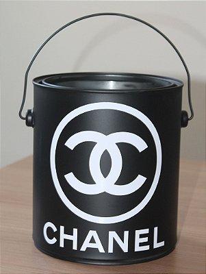 Mini Balde Chanel Inspired Preto