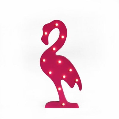 Luminária Decorativa Flamingo com LED