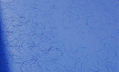 Papel Reciclado Artesanal Azul Colonial Liso