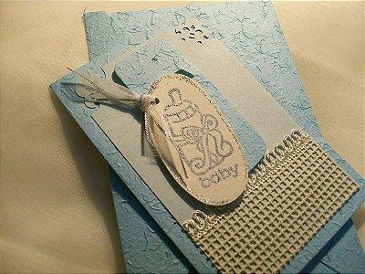 Kit Cartões Comemorativos - TEMA BEBÊ - kit com 05 cartões