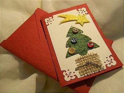 Kit Cartões Comemorativos - TEMA NATAL- kit com 05 cartões