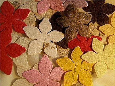 Flor para scrapbooking- kit com 50 unidades