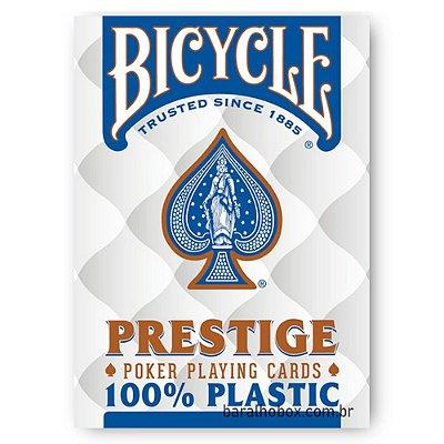 Baralho Bicycle Prestige Jumbo 100% Plástico Azul