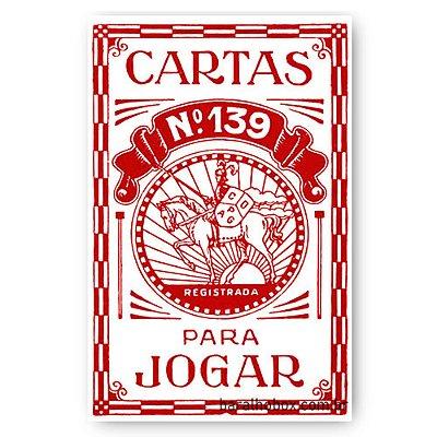 Baralho Copag 139 Retrô Vermelho