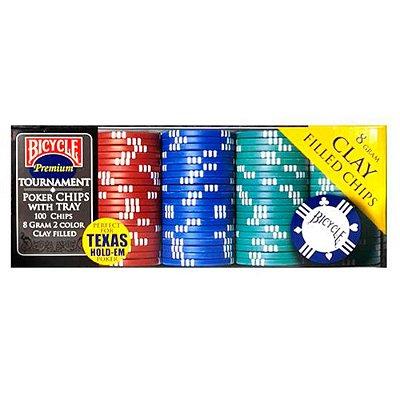 Fichas de pôquer Bicycle 8 gramas Premium com bandeja