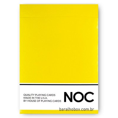 Baralho NOC Original - Amarelo (Yellow)