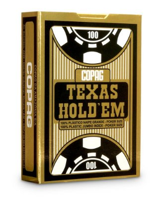 Baralho Copag Texas Holdem Preto 100% Plástico