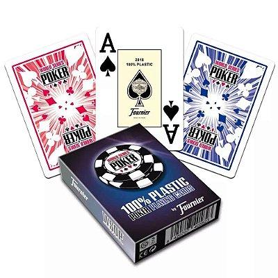 Baralho Fournier WSOP Poker Jumbo 100% Plástico