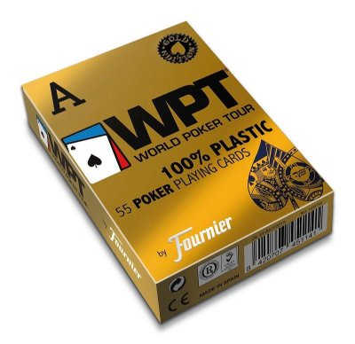 Baralho Fournier WPT Gold Edition 55ct Poker Jumbo 100% Plástico