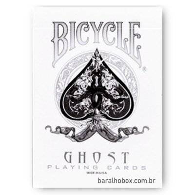 Baralho Bicycle Ghost Branco