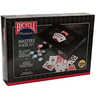 Maleta Master Poker Set Bicycle 300 fichas 8G + Par Bicycle Standard