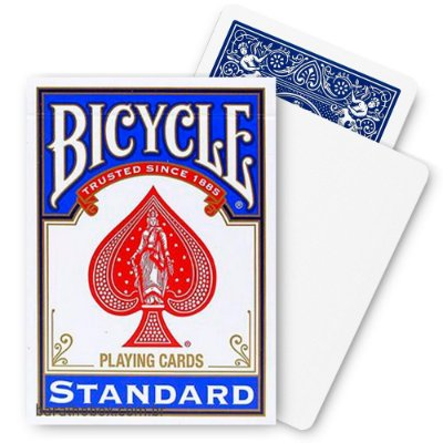 Baralho Bicycle Blank Face Azul