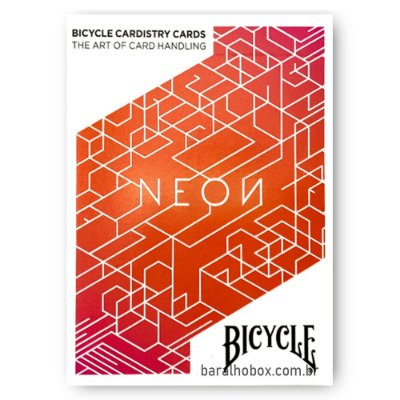 Baralho Bicycle Neon Orange Bump Cardistry