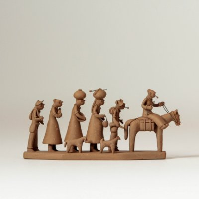 Miniatura Família de Retirantes Crua