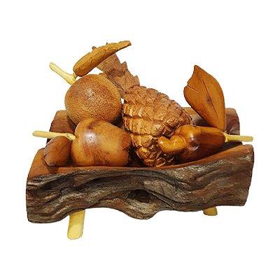 Fruteira em madeira P - PB