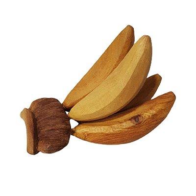 Cacho de Banana em madeira M - PB