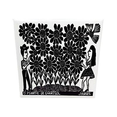 """Azulejo """"O Plantio de Girassol"""" M - J. Borges - PE"""