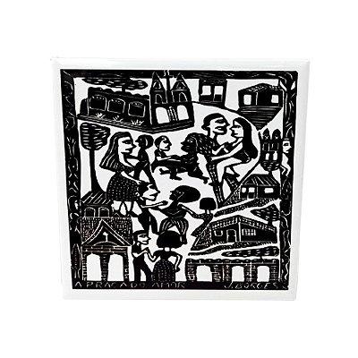 """Azulejo """"A Praça do Amor"""" M - J. Borges - PE"""
