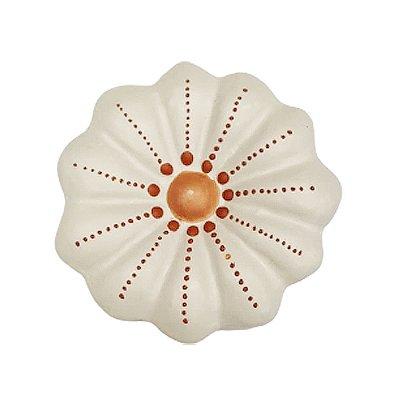 Flor de Parede Branca MARIA NAZARÉ - 7 Cm