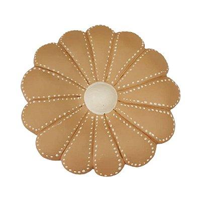 Flor de Parede Bege  ALINE - 10 Cm