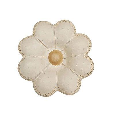 Flor de Parede Branca CLAUDIA - 14 Cm