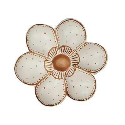 Flor de Parede Branca JUNIA - 14 Cm
