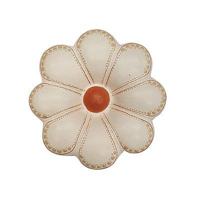 Flor de Parede Branca  CLAUDIA - 16 Cm