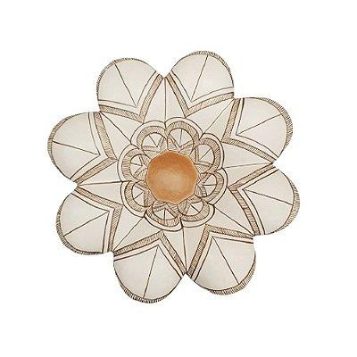Flor de Parede Branca  MARCILENE - 20 Cm
