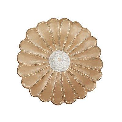 Flor de Parede Bege  YARA - 23 Cm