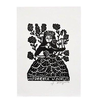 "Xilogravura ""Jardineira"" P -  J. Borges - PE"