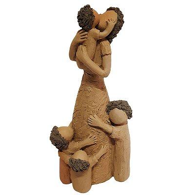 Escultura Mãe com Crianças - João Paulo Motta - MG