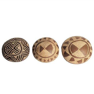 Trio de Cuia Etnia Tikuna - AM