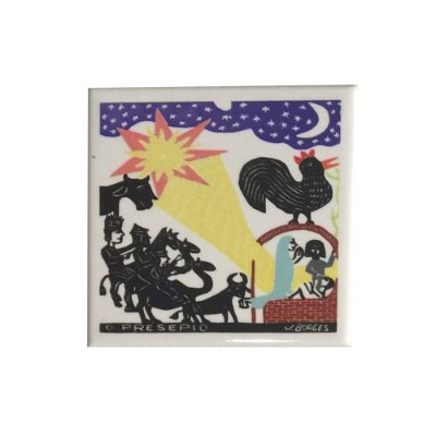 Azulejo em Xilogravura O Presépio J. Borges - PE