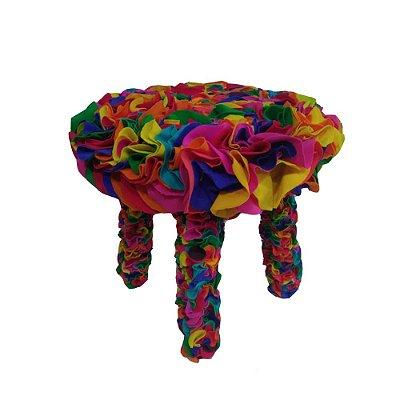 Banquinho Colorido Tecido - PE