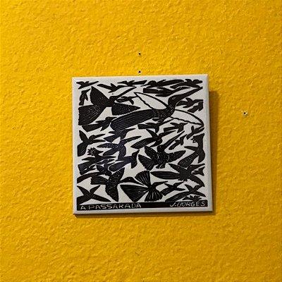 """Azulejo """"A Passarada"""" do J. Borges M - PE"""