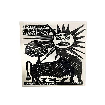 Azulejo em Xilogravura O Monstro do Sertão J. Borges - PE