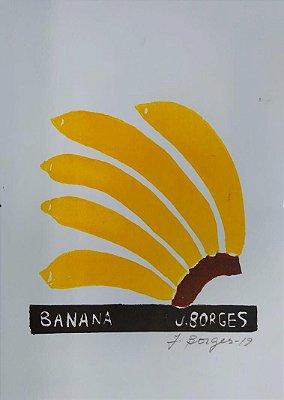 Xilogravura J. Borges Banana P - PE
