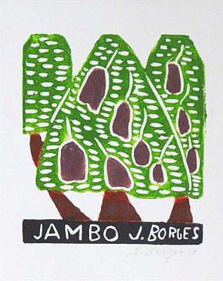 Xilogravura J. Borges Jambo P - PE