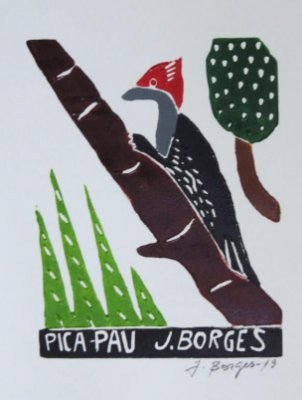 Xilogravura J. Borges Pica Pau P - PE