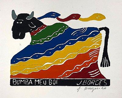 """Xilogravura """"Bumba meu Boi"""" M - J. Borges - PE"""