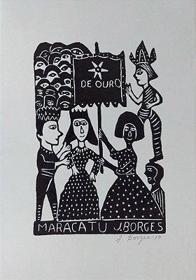 Xilogravura J. Borges Maracatu M - PE