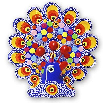 Pavão Cerâmica  - Figureiras de Taubaté