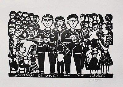 Xilogravura J. Borges Cantoria de Viola G - PE
