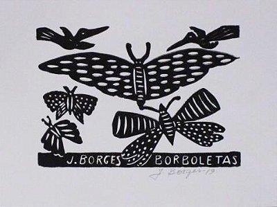 Xilogravura J. Borges Borboletas P - PE