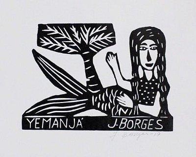 Xilogravura J. Borges Yemanjá P - PE