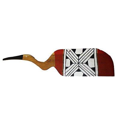 Pássaro em madeira Waurá